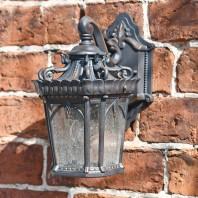"""""""Cotswold"""" Small Ornate Bronze Top Fix Wall Lantern"""