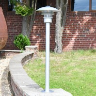 """Kronoby"" Modern Stainless Steel Driveway Pillar Light 100cm"