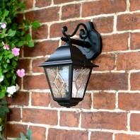 """Sheringham"" Traditional Black Top Fix Wall Lantern"