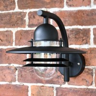 Black Modern Overhanging Wall Light