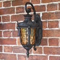 """Pennsylvania"" Antique Bronze Ornate Large Top Fix Lantern"