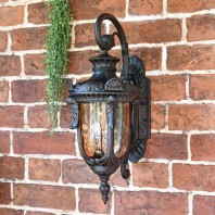 """Pennsylvania"" Antique Bronze Ornate Medium Top Fix Lantern"