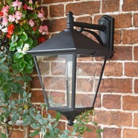 """""""Brooksby"""" Large Black Simplistic Suspended Victorian Wall Lantern"""