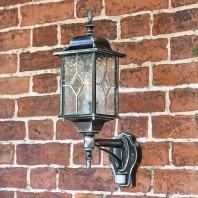 """Marsden"" Silver Wall Lantern with PIR Sensor"