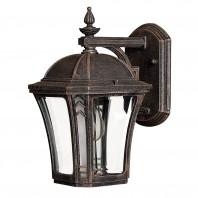 """Berwick"" Antique Bronze Standard Wall Lantern"