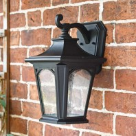 """Hamstead"" Medium Black Wall Lantern"