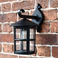 Large Classic Cylinder Porch Top Fix Wall Light