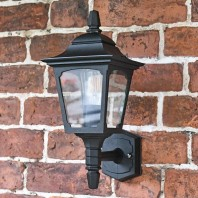 """Moorside"" Traditional Black Wall Lantern"