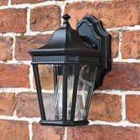 """Bramford Bank"" Standard Black Ornate Wall Lantern"