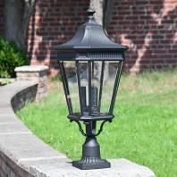 """""""Bramford Bank"""" Large Traditional Gas Lantern Inspired Pillar Light 78cm"""