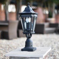 """Bramford Bank"" Standard Traditional Gas lantern Inspired Pillar Light 57cm"