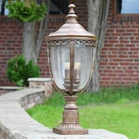 """The Ruxton"" Bronze Traditional Countryside Pillar Light 64cm"
