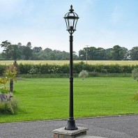 """Maidstone"" Black Traditional Lamp Post 1.9m"