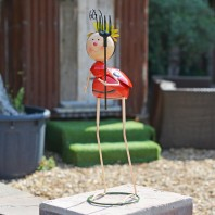 Long-Legged Flower Lady Bird Garden Ornament