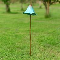 Large Rustic Blue Mushroom Garden Spike