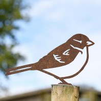 House Sparrow Rustic Fence Topper
