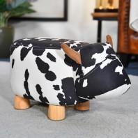 Daisy the Black & White Cow Foot Stool