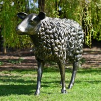 Life Size Bronze Sheep Sculpture