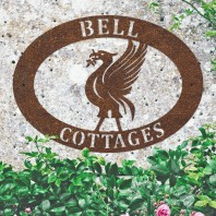 Rustic 'Liver Bird' Iron Oval House Name Sign