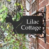 Contemporary Cockerel Iron Bracket House Name Sign