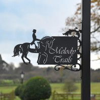 Dressage Horse Iron Bracket House Name Sign