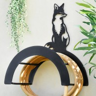 Wall Mounted Sitting Fox Iron Hose Holder