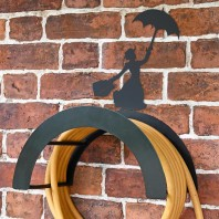 Wall Mounted Mary Poppins Iron Hose Holder