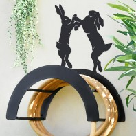 Wall Mounted Boxing Hares Iron Hose Holder