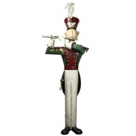 Christmas Metal Solider with Flute