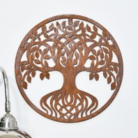 Round Tree of Life Rustic Wall Art