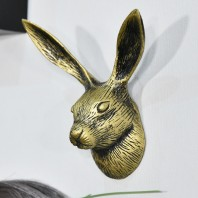 Golden Hare Metal Wall Hook
