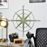 Verdigris Compass Wall Art
