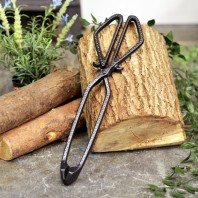 Black Iron Coal Tongs