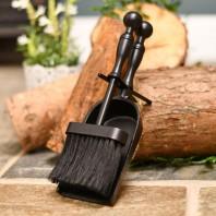 Black Traditional Pan and Brush Set