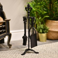 Blacksmith Style Companion Set with Fleur de Lys Finial 52cm
