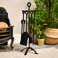 Black Blacksmith Twist Design Companion Set 68cm