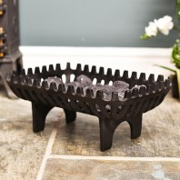 Large Robust Cast Iron Fire Basket 46cm