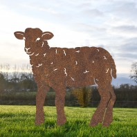 Rustic Curly Lamb Iron Silhouette
