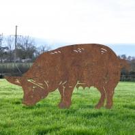 Rustic 'Female Pig' Silhouette