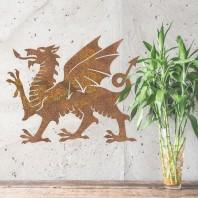 Rustic Welsh Dragon Wall Art - 60cm