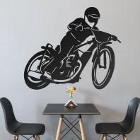 Black 'Speedway' Wall Art