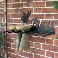 Wall Mounted Liver Bird Iron Boot Holder
