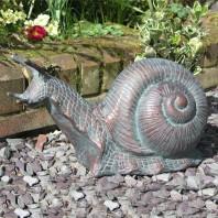 Verdigris Snail Garden Ornament