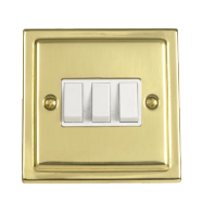 Victorian White Treble Light Switch
