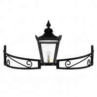 Black Victorian Bow Bracket Light