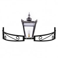 Polished Nickel Victorian Bow Bracket Light