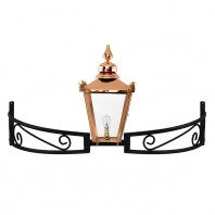 Copper Victorian Bow Bracket Light