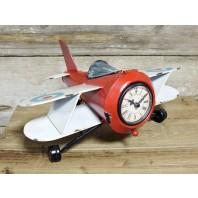 Vintage Airplane Desktop Clock