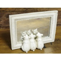 Vintage Cream 'Three Little Pigs' Mirror