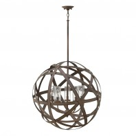 Vintage Iron Sphere Hanging Light